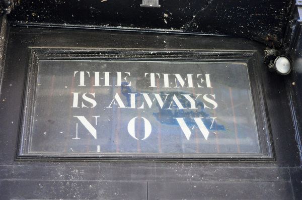 """The Time Is Always Now"" art gallery, NYC, 1990s"