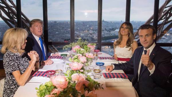 """Who booked a table under the name of Brigitte Macron?"""