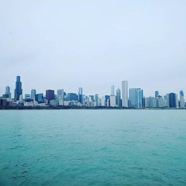 Chicago depuis la jetée du planétarium Adler