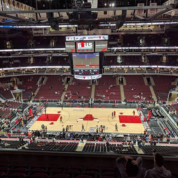 Premier match de NBA vu de mes propres yeux sans écran interposé #bullsnation