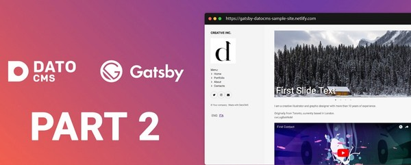 Static multi-language personal site with Gatsby, DatoCMS and Netlify