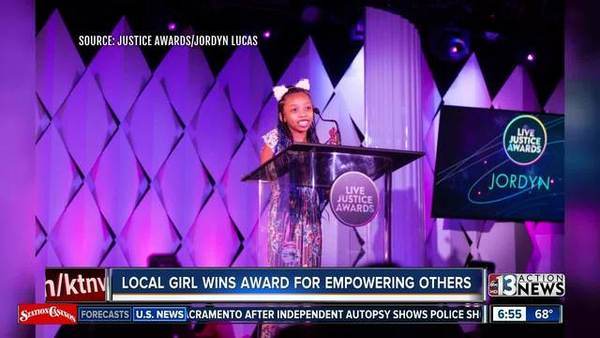 Local girl wins 'Live Justice Award' for empowering other kids