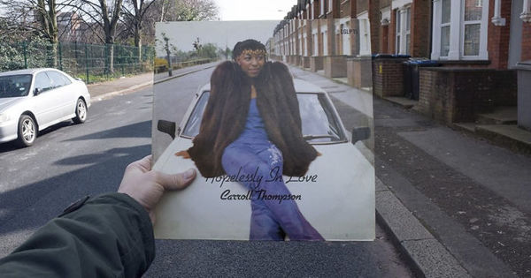 Photographer tracks down the original locations of vinyl covers