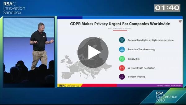 all about PII/GDPR - Innovation Sandbox 2018: BigID (boldstart portfolio co)