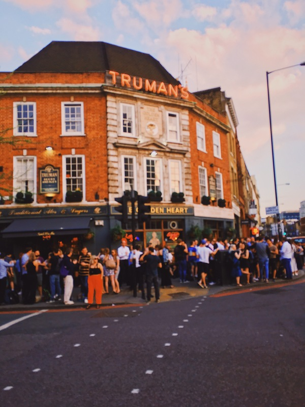 Every pub was virtually filled with people drinking outside on Friday.