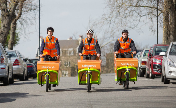 Sainsbury's rolls out e-cargobike delivery trial