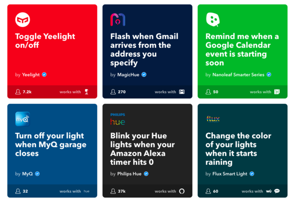 IFTTT- 21 Lights Collection