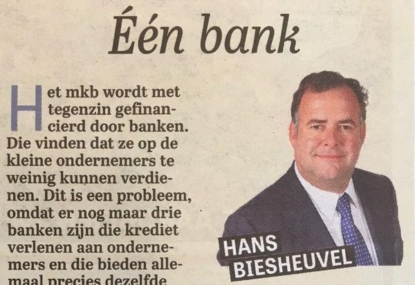 Het MKB wordt met tegenzin gefinancierd door banken