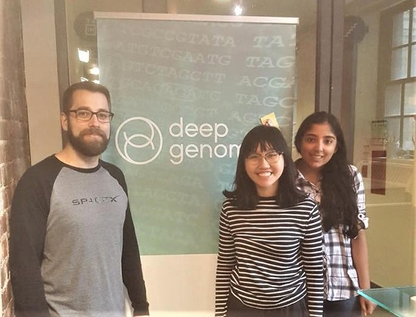 Troy, Hannah, and Induja @ Deep Genomics