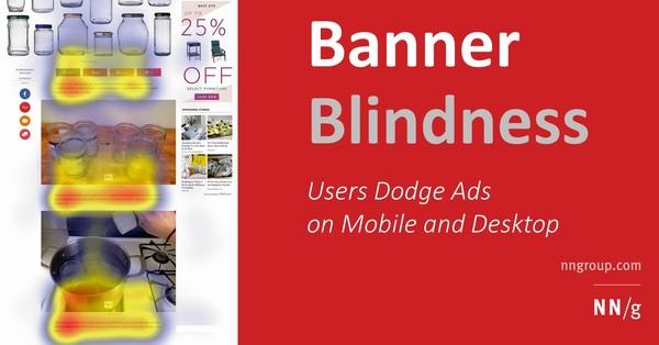 """Die Nielsen Norman Group hat die Theorie der """"Banner Blindness"""" überprüft"""