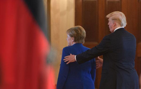 Bondskanselier Merkel op bezoek bij president Trump