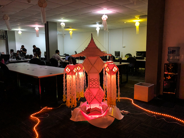 The winning lantern from our office competition