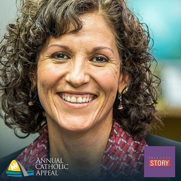 """""""The opportunity that [the Annual Catholic Appeal] gave to me when I was a little girl is just. . . it's invaluable. It's life-changing. I can't express that enough!"""" #TellYourStory with the #ACA #CatholicSTL"""