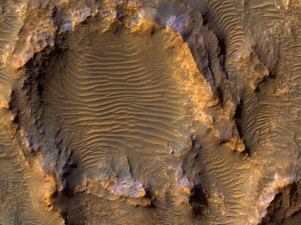Bedrock on a Crater Floor