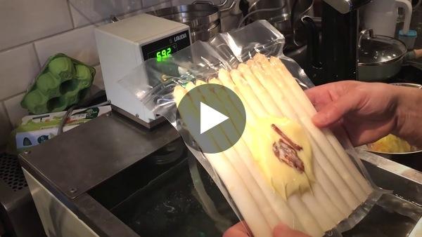 sous vide asperges en zalm - YouTube