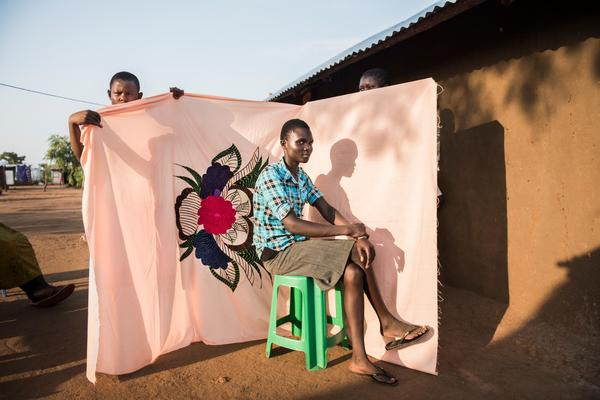 For South Sudanese Refugees, Bedsheets Are a Reminder of Home and Hope