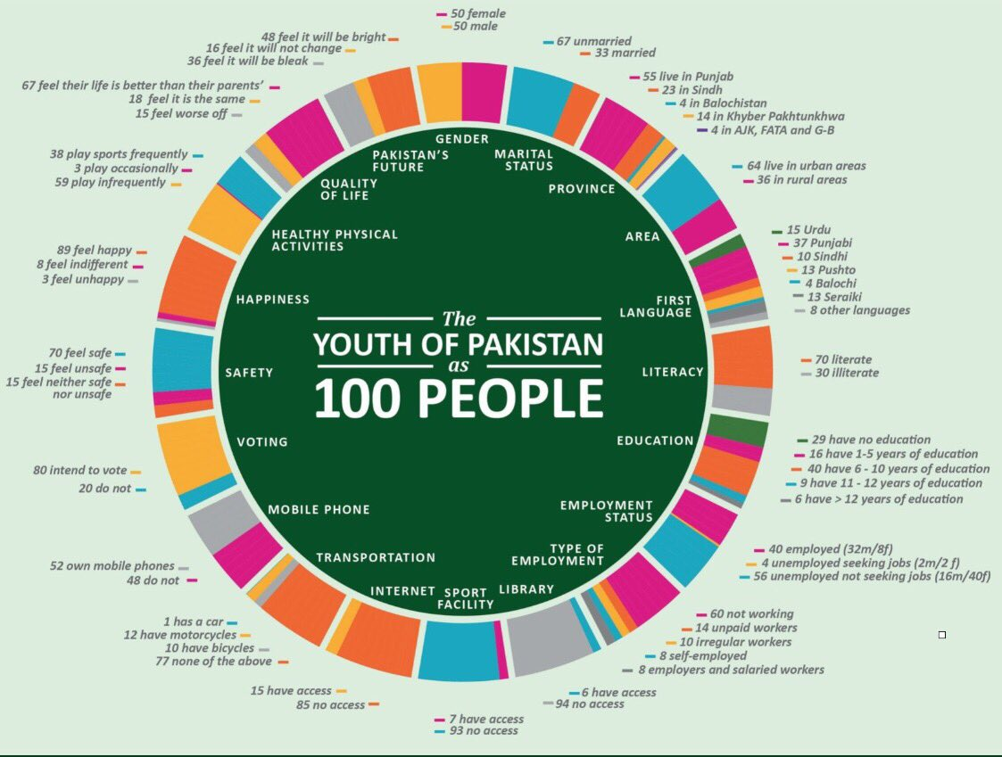 The Youth of Pakistan as 100 People