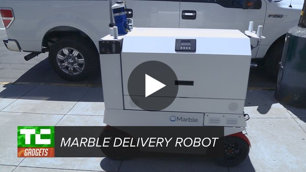 Marble's delivery robot rolls through SF - YouTube