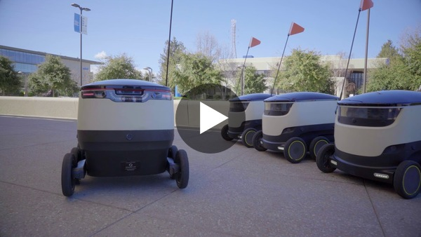 Starship Campus Delivery Service with Robots - YouTube