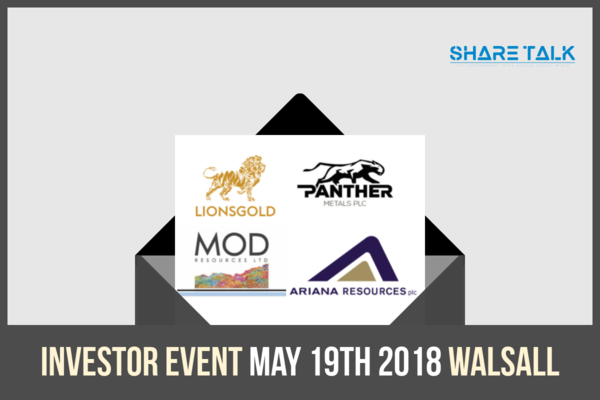 Share Talk Investor Event, May 19th, Village Hotel Walsall