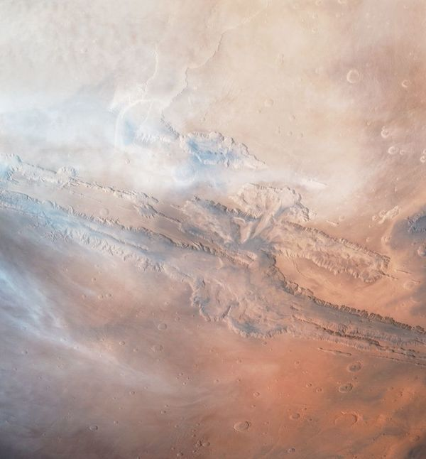 Valles Marineris canyon system, taken by Viking Orbiter 1 in 1979