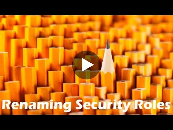 "Two-Minute Tuesday - Episode 18: ""Rename unused Security Roles"" - YouTube"