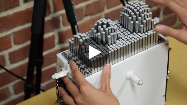 shapeShift: A Mobile Tabletop Shape Display for Tangible and Haptic Interaction - YouTube