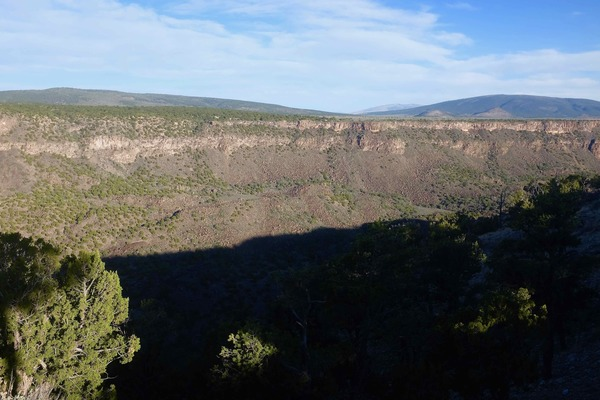 The Rio Grande. We camped 1,000 feet up overlooking the canyon and river.