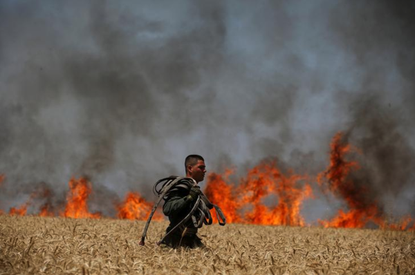 Israëlische soldaat in Gaza (foto: Reuters)