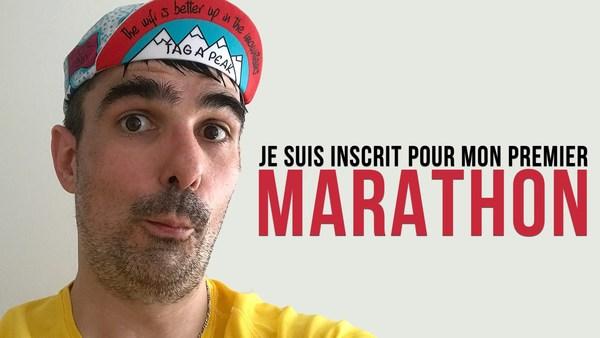 Je suis inscrit pour mon premier marathon !