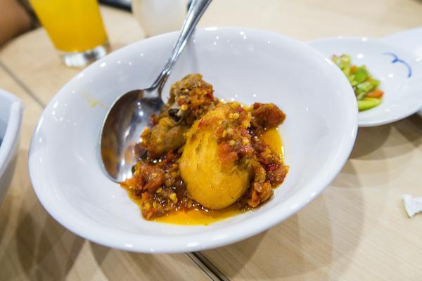 """Ayam rica rica"" - spice mixture consisting of chili peppers, bird's eye chili, shallots, garlic, & ginger."