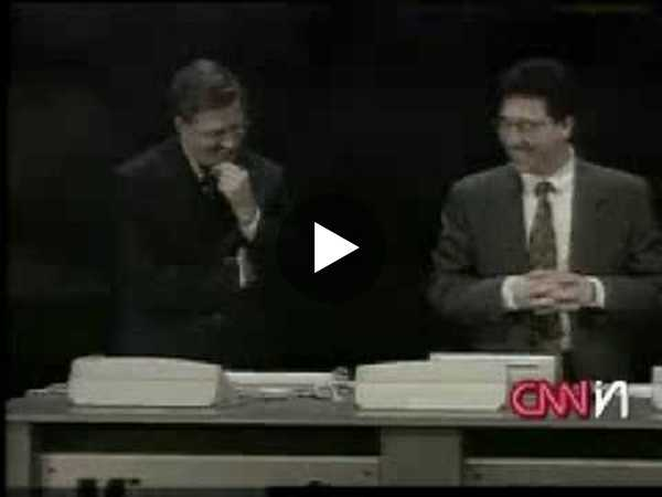 Bill Gates, Windows 98, Blue Screen of Death - YouTube