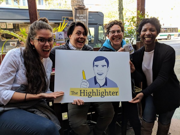 It's almost summer! Join loyal readers Brittany, Angelina, Kiera, and Alcine at HHH #6 at Room 389 in Oakland on Wednesday, June 6, beginning at 5:30 pm. Get your free ticket now at highlighter.cc/events!