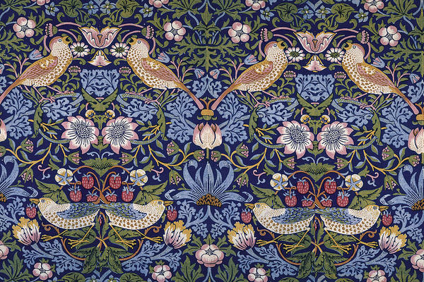 Jawel, William Morris was ook een gekend ontwerper van onder andere behangpapier