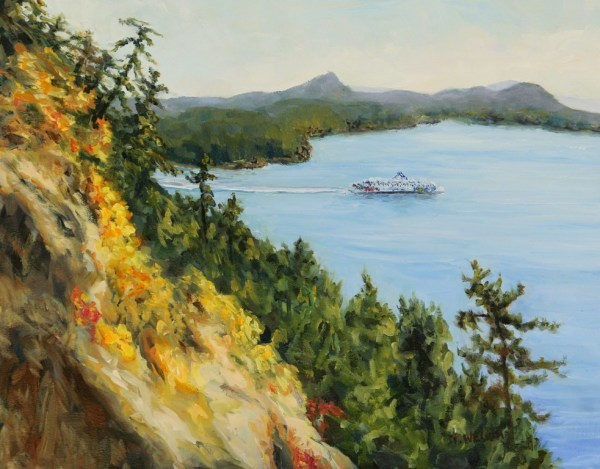 Collison Point View of Mayne Island by Terrill Welch | Artwork Archive