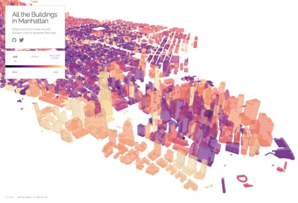 A screenshot of the 3D map.