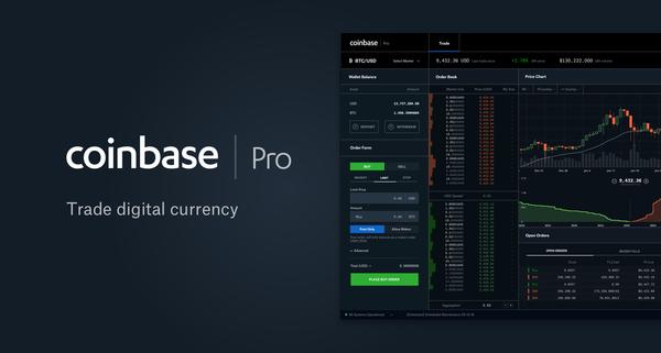 Coinbase Pro   Digital Asset Exchange