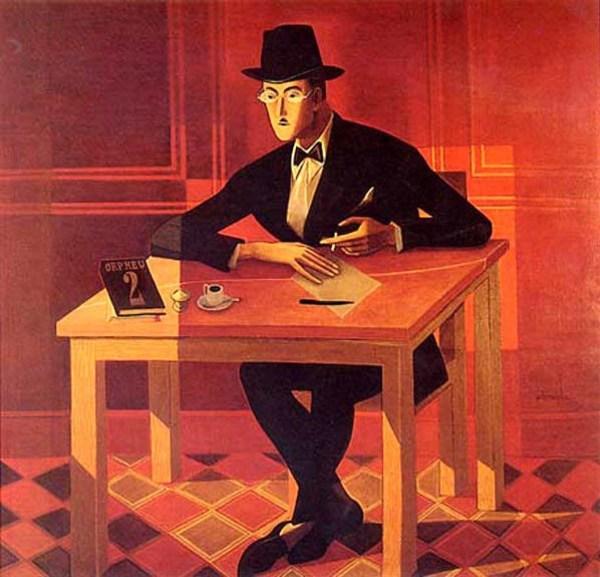 Fernando Pessoa door José de Almada Negreiros, 1954 (Public domain)