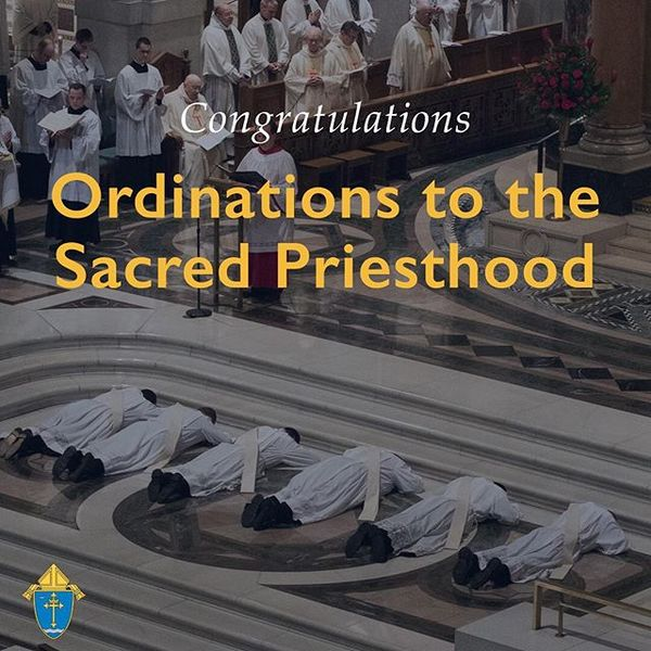 Congratulations to all the men from @kenrickglennon who are ordained to the Sacred Priesthood today! May God be with you in your ministries as Persona Christi always! #CatholicSTL is praying for you!