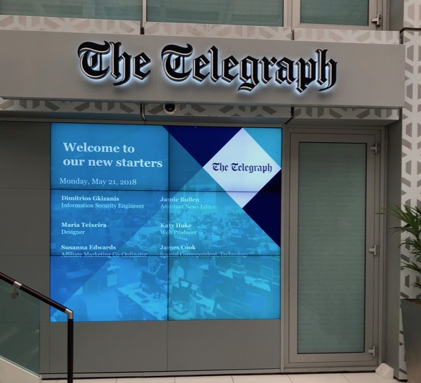James Cook spied at The Telegraph on his first day