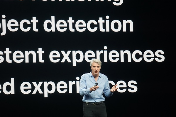 Apple software honcho Craig Federighi, unveiling betas at WWDC