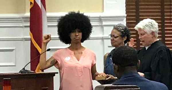 26-year-old Georgia official takes her oath on Malcolm X's autobiography