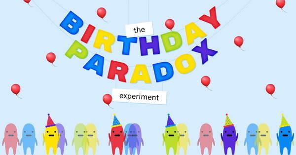 Diese interaktive Website erklärt, wie die Mathematik hinter dem Geburtstags-Paradoxon funktioniert