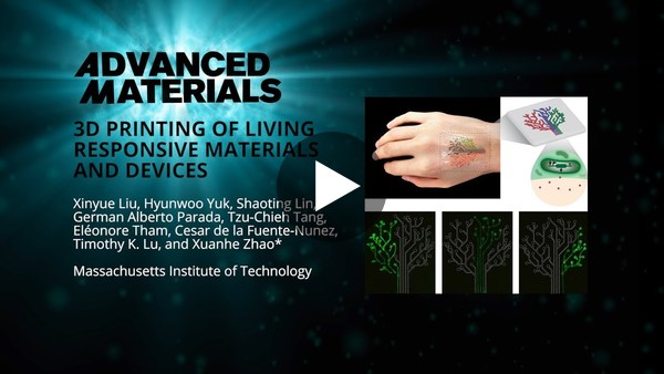 3D Printing of Living Responsive Materials and Devices - YouTube
