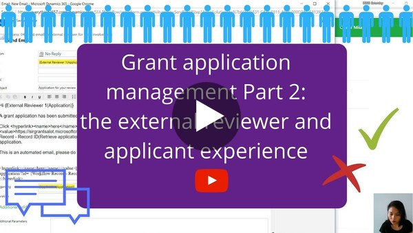 Grant application management part 2: the external reviewer and applicant experience - YouTube