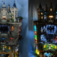 Fan bouwt gigantische LEGO Batcave en Wayne Manor