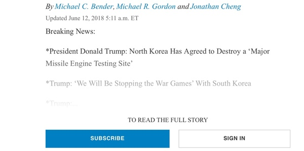 The dreaded text-fade of a paywalled article.