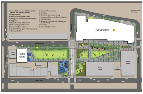 Site plan for 700 Jackson in Hoboken, NJ, USA