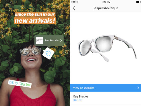 Instagram adds shopping tags directly into Stories – TechCrunch