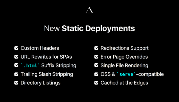 ZEIT – New Static Deployments